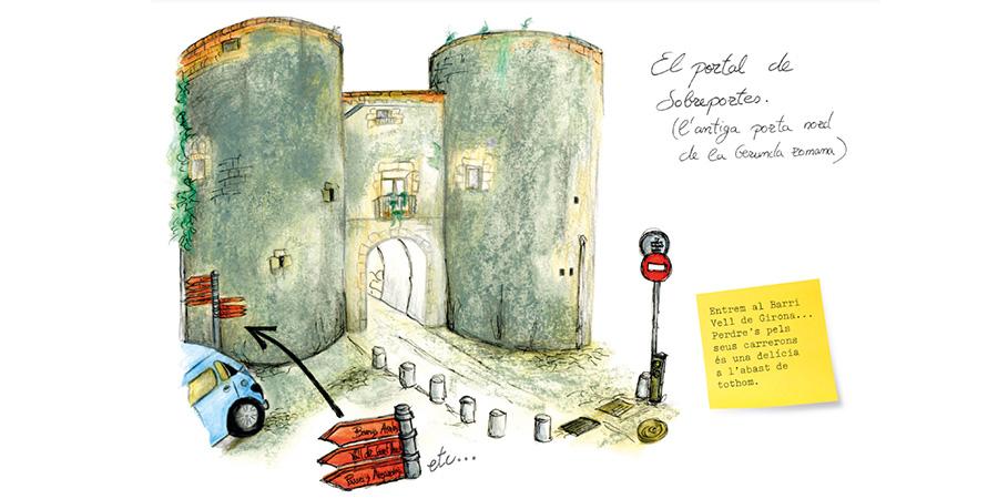 imatge de  Laura Reixach y Gerard Bagué > Girona, a trazo de lápiz